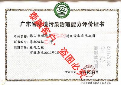 广东省环境污染治理能力评价-6佛山市(废气乙级)